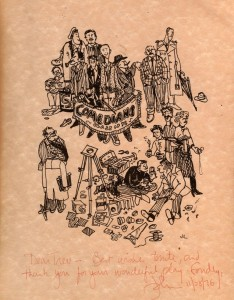 cartoon of the company by John Lithgow