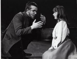 Mick Ford as Trofimov, Lynsey Baxter as Anya